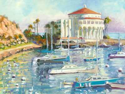 """Catalina Sparkle, Catalina Island,"" archival giclée print by Val Carson"