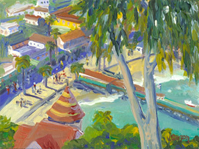 """""""View of Avalon,"""" archival giclée print by Val Carson"""