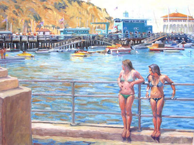 """Two Beauties,"" original oil and archival giclée print by Val Carson"